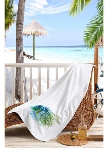 Kiğılı Plaj Havlusu Beyaz